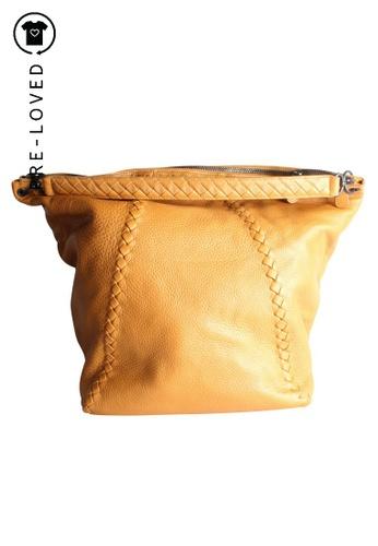 Bottega Veneta brown Pre-Loved bottega veneta Camel Top Handle Tote Bag CDB82AC6600465GS_1