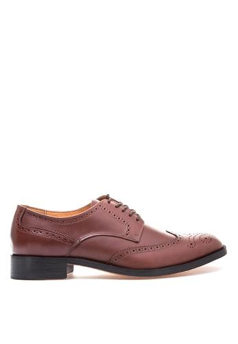 Bristol Shoes brown Bennett Brown Wingtip Derby BR842SH65KCKPH_1