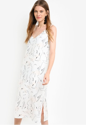 Something Borrowed white Strappy Midi Dress 5D948AAAD71071GS_1