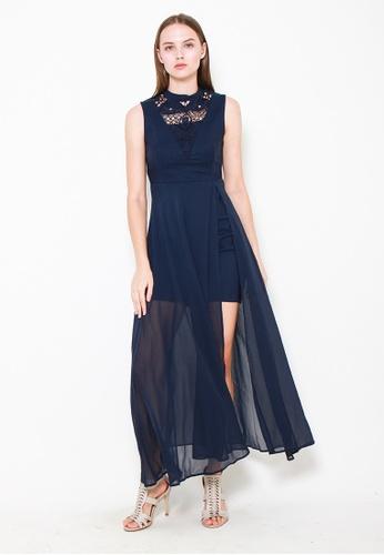 Leline Style blue Eliana Crochet Dress 2EDB9AAEDB8098GS_1