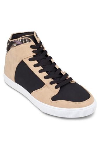 撞色拼接休閒高筒鞋, zalora 折扣碼鞋, 休閒鞋