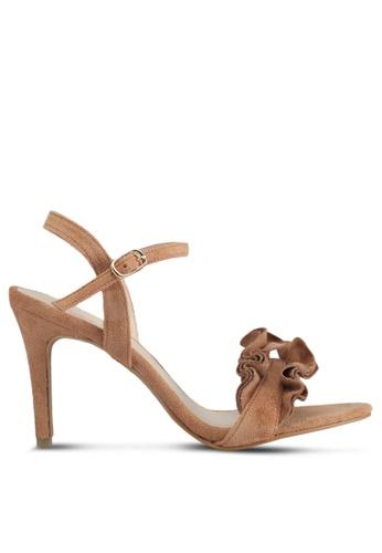 VINCCI brown Strappy Heels 7D9D1SHAC578B3GS_1
