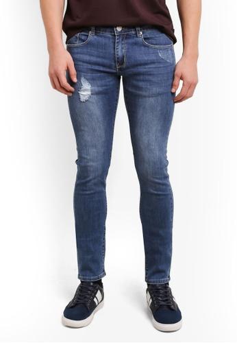 Electro Denim Lab 藍色 Dub Tight Fit Jeans EL966AA0SF80MY_1