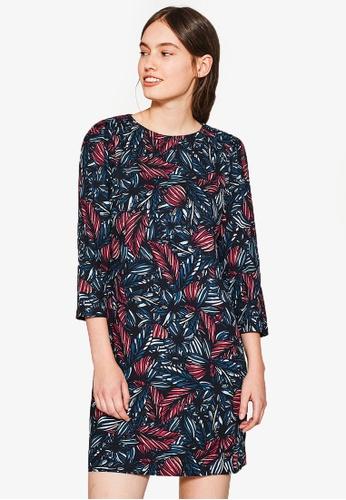 Esprit black and multi Light Woven Dress ES374AA0RVAWMY_1
