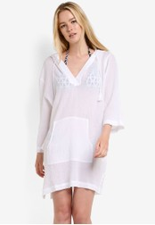 Seafolly white Hooded Crinkle Twill Cover Up SE198AA37PUGMY_1