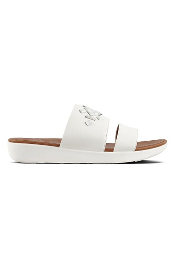 d7efd5c7fd4d7 FitFlop white Fitflop Delta Leather Slide Sandals - Crystal (Urban White)  02592SH6E26178GS 1