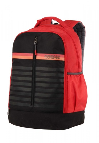 American Tourister black and red American Tourister Ping Backpack 01 AM536AC0GMZ8SG_1