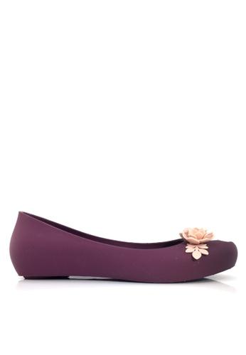 Twenty Eight Shoes 紫色 立體花內增高果凍膠雨鞋 VR379 9D64DSH894EBA9GS_1