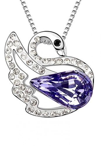 LOVENGIFTS purple LOVENGIFTS Swan Princess Pendant Necklace (Purple) LO429AC91SPGMY_1