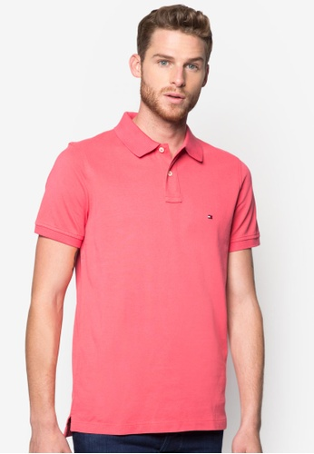 Tommy Hilfiger red SLIM FIT POLO S/S SF TO861AA44BDNMY_1