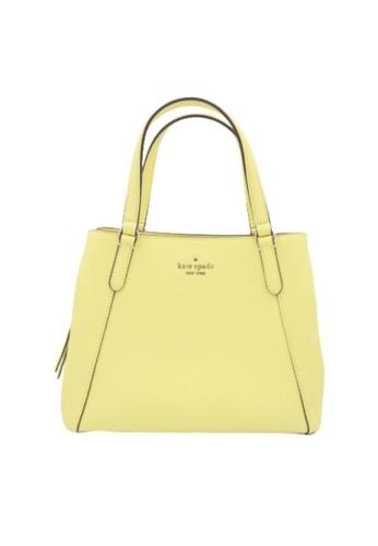 KATE SPADE yellow Kate Spade Jackson Medium Triple Compartment Satchel Bag WKRU6040 In Limelight AEFFCAC0F6DBD4GS_1