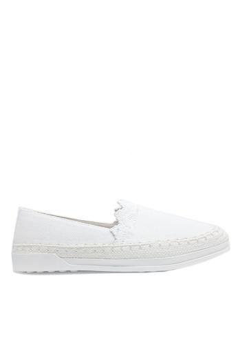 Twenty Eight Shoes white Denim Slip-on A27-38 097DCSH71CBB9BGS_1