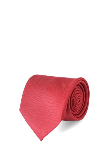 Sacoor Brothers red Men's Silk Tie A2CC1AC19A33D8GS_1
