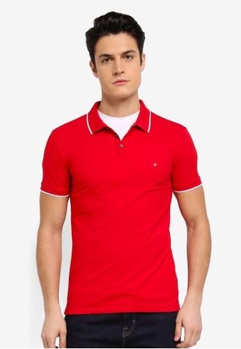 Calvin Klein red Paul Slim Polo Shirt - Calvin Klein Jeans A6BCCAA96DCFABGS_1