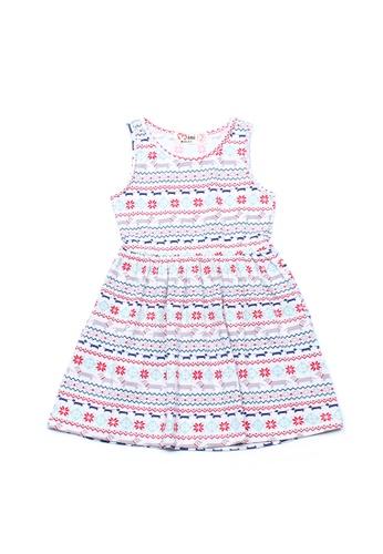 Mini Moley white Aztec Daschund Print Girl's Dress 731ECKAC49695CGS_1