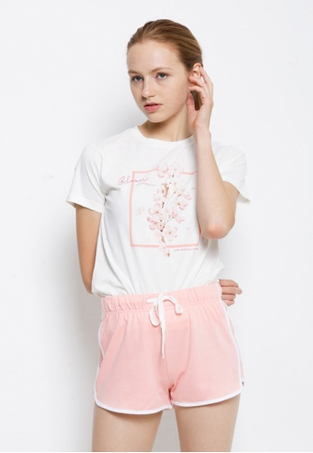 Fave white Short Sleeve Graphic Tee F8385AAF8315FCGS_1