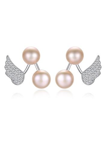 A.Excellence purple Premium Purple Pearl Elegant Earring 1A6A6ACE95CF09GS_1