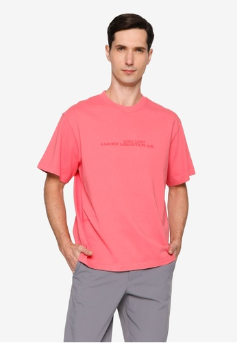 URBAN REVIVO pink Lucky T-Shirt F7916AAD3A906AGS_1