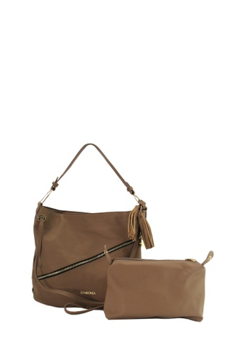 7dc88f1326 SEMBONIA brown Synthetic Leather Shoulder Bag (Dark Brown)  017E9AC23F5885GS 1