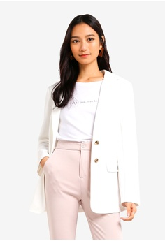 dcf08576400 35% OFF ZALORA Tiered Flare Hem Dress RM 105.00 NOW RM 67.90 Sizes XS S M L  XL · ZALORA white Long Line Blazer 83669AAF6327F0GS 1