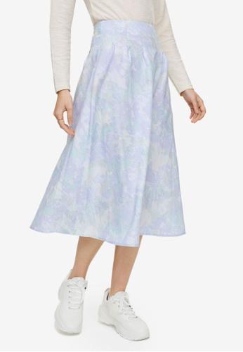 H&M purple Batik Print Skirt 87C1AAAA7DA5C7GS_1