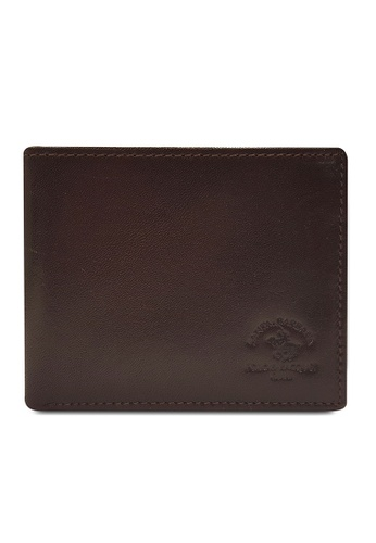 Santa Barbara Polo & Racquet Club brown Santa Barbara Luxurious Leather Bifold Wallet SA678AC0GQ9ASG_1