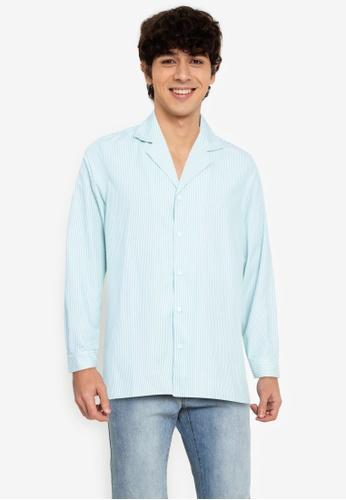 ZALORA BASICS multi Stripes Camp-Collar Shirt BD216AAFE59A80GS_1