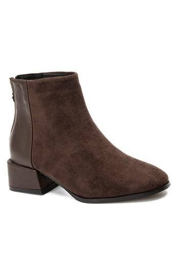 Twenty Eight Shoes 褐色 方頭中靴 VB2278 7EE29SH0793ED4GS_1
