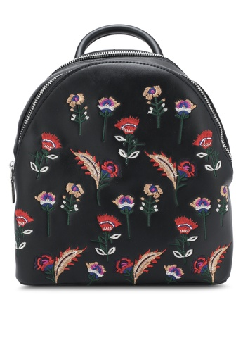 Something Borrowed black Embroidered Small Backpack 3FC8FZZE8B31DAGS_1