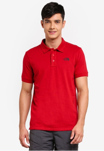 The North Face red TNF M S/S Logo Polo - Ap TNF Red Black Heather EA180AA68FD9BEGS_1