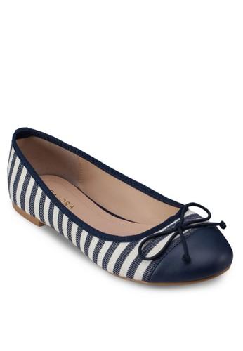條紋zalora 手錶 評價蝴蝶結平底鞋, 女鞋, 芭蕾平底鞋