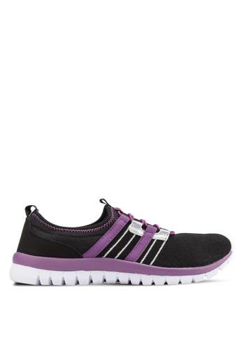 Spiffy black Knitted Sneakers SP352SH73EGWMY_1