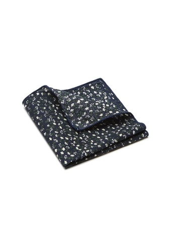 Buckle black Flora Pocket Square 86D82AC77CD5DEGS_1