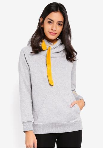 ONLY grey and yellow Jasmin Jalene Long Sleeve Hoodie B575BAA748E353GS_1