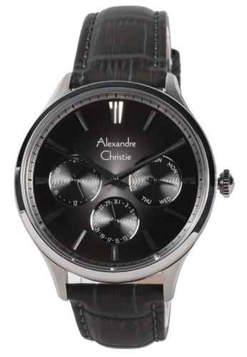 Alexandre Christie black Alexandre Christie - Jam Tangan Pria - Silver - Black Leather Strap - 6569MFLSSBA DA501ACE133B99GS_1