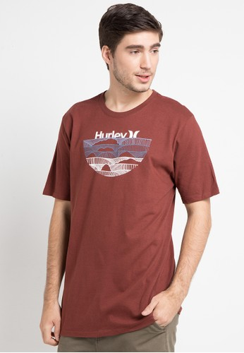 hurley brown Cre One & Only Sets Short Sleeve T-Shirt 59D46AA999D649GS_1
