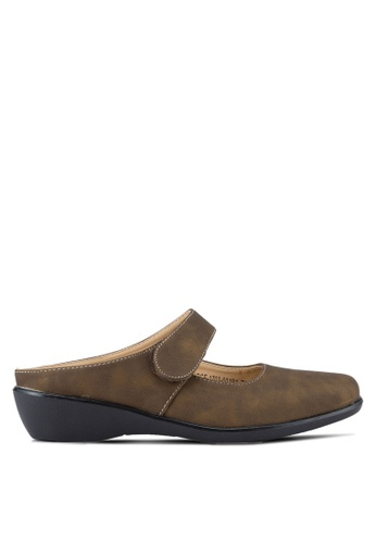 Noveni brown Womens Wedges NO978SH87REUMY_1