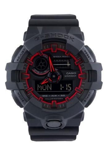 G-Shock black Casio G-SHOCK Jam Tangan Pria - Black Red - Resin - GA-700SE-1A4DR 073EFACBEFD414GS_1