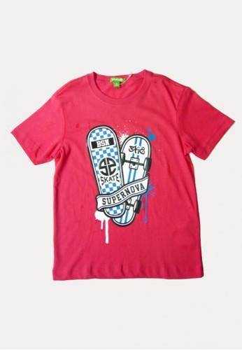 Bossini red Bossini Kids Boy T-Shirt Chili (03080311023) 36642KAC46C3E2GS_1
