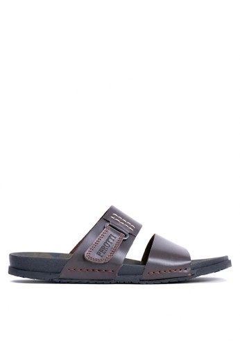 Tony Perotti brown Tony Perotti Sandals Brooks - Brown C185BSH2B46BE4GS_1