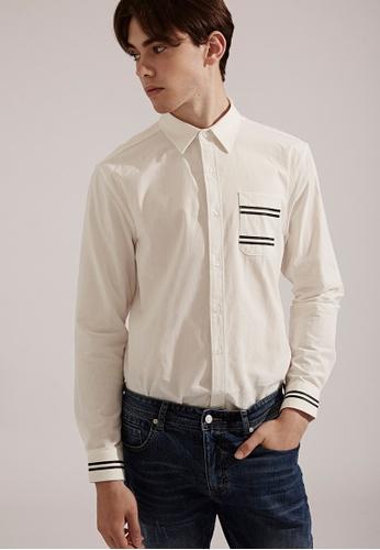 Life8 white Casual Long-Sleeved Shirts-03821-White LI283AA0FFH8SG_1