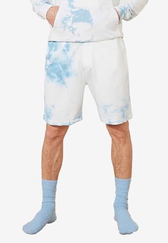 Trendyol white Regular Fit Tie Dye Shorts 1D3E2AA77DF6EEGS_1