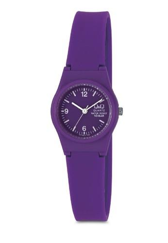 Q&Qzalora 衣服評價 VP47J017 彩色細帶手錶, 錶類, 其它錶帶