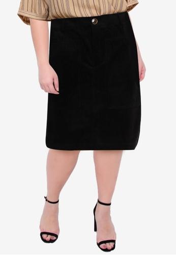 Vero Moda black Plus Size Lora Above Knee Curve Skirt C7B8AAA3165357GS_1