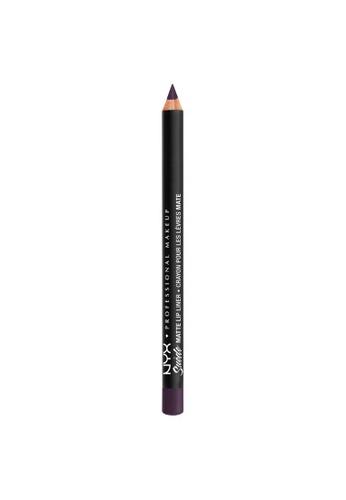 NYX Professional Makeup black NYX Professional Makeup Suede Matte Lip Liner - SMLL 66 - DOOM BB0CBBE5B1FCDCGS_1