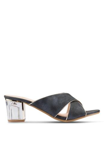 Berrybenka black Sheryl Decha Heels 65D0CSHE338D2CGS_1