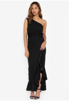 2f2229818d3c Deity black One Shoulder Grecian Long Dress 3F5B4AA4827BADGS_1