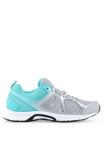 Reebok grey and white and green and silver Reebok Runner 2.0 Memorytech Shoes RE691SH0SW2BMY_1