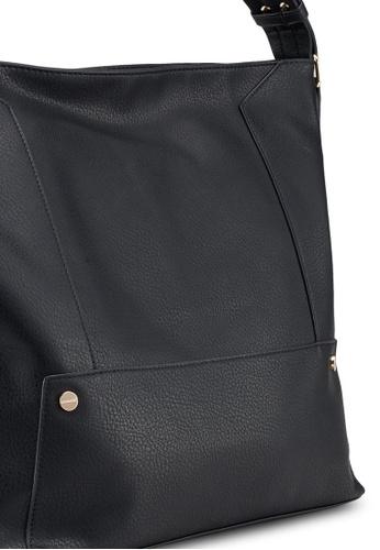 6896028c479f Buy Dorothy Perkins Black Scallop Strap Hobo Bag Online on ZALORA Singapore