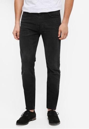 Burton Menswear London black Black Carter Tapered Jeans 11037AA8BCAEB1GS_1